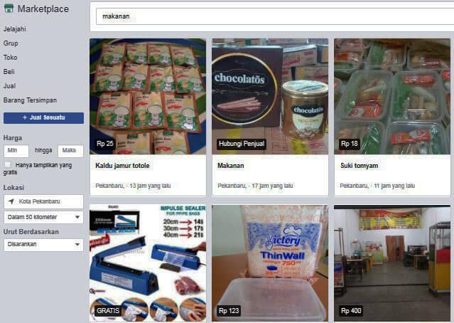 marketplace untuk jualan online di facebook